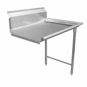 Commercial Stainless Steel Dish Table Clean Side 60 Right