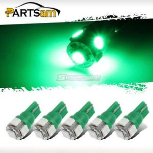 5x Green Roof Cab Marker Clearance Led Bulbs Lights For 1999 2014 Ford F250 F350