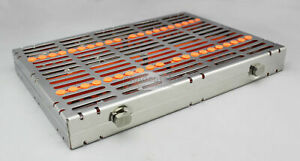 Dental Sterilization Cassette Rack Tray For 20 Instruments Stainless Steel Ce