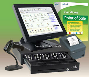 Posiflex Quickbooks Pos Multistore System All in one Station Retail C Bundle New