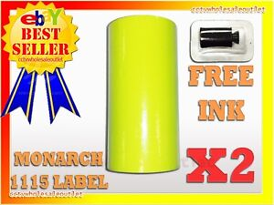 2sleeves Fluorescent Yellow Label For Monarch 1115 Pricing Gun 2 Sleeves 20rolls