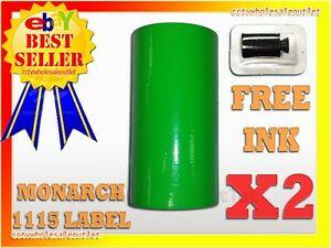 2sleeves Fluorescent Green Label For Monarch 1115 Pricing Gun 2 Sleeves 20rolls