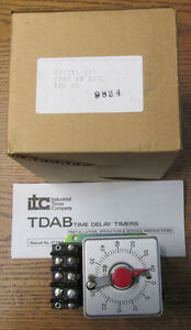 New Nos Itc Tdab 60m 60 Minute Timer 120v 60hz Industrial Timer Company
