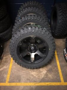 20 Fuel Beast D564 Black Wheels Rims And 33 Toyo Mt Tires 6x5 5 Chevy Gmc