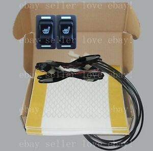 Auto Seat Heater Universal Rectangle Switch heated Seat Fit All 12v Cars trucks