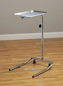 Mobile Physician Surgical Instrument Mayo Stand Stainless Steel Tray 221