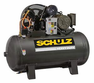 Schulz Air Compressor 5hp Single Phase 80 Gallons Tank 20cfm 175 Psi