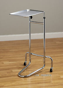Brand New Mobile Mayo Doctor Medical Instrument Stand Tray Table 222