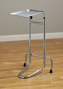 New Mobile Physician Surgical Mayo Instrument Stand With Tray 222