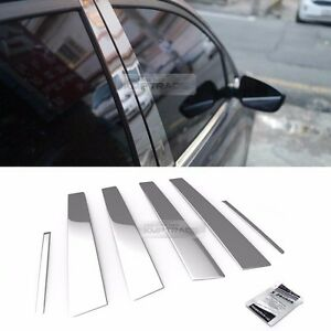 Stainless Steel Chrome Window Pillar Molding 6pcs For Kia 2010 2014 Sorento R