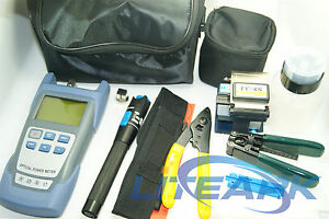 9 In 1 Fiber Optic Ftth Tool Kit With Fc 6s Fiber Cleaver And Power Meter