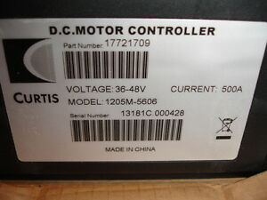 Curtis Dc Motor Controller Model 1205m 5606 P n 17721709 36 48volts 500amp New
