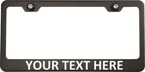 Calibri Font Personalized Custom Laser Engraved Black Chevy License Plate Frame