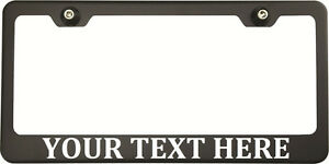 Cambria Font Personalized Custom Laser Engraved Black Acura License Plate Frame