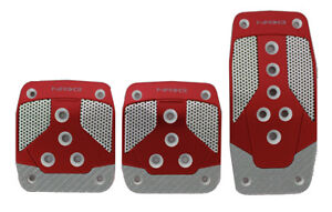 Nrg Aluminum Sport Pedal Red W Silver Carbon For Manual Trans