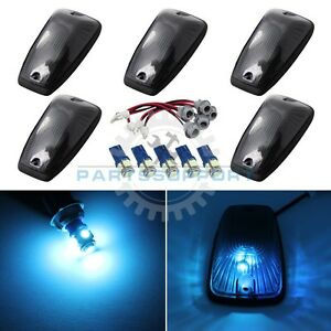 Smoked Cab Lights Roof Marker Ice Blue Led Bulb For 92 99 C1500 C2500 Suburban