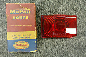 1949 49 Plymouth Deluxe Special Deluxe Tail Brake Light Lamp Lens 1244752