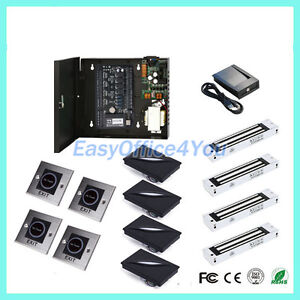 High Security Zk Smart Card Access Control System lock With Tcp ip Free Software
