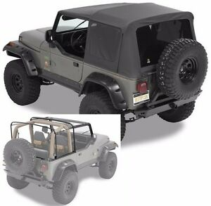 Bestop Supertop Nx Full Soft Top Kit W Frame Hardware 88 95 Jeep Wrangler Yj