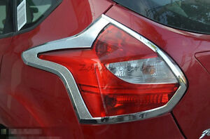 For Ford Focus 3 2012 2013 5dr Hatchback Rear Tail Light Lamp Cover Trim Chrome