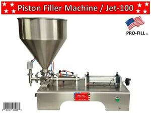 5ml 100ml Piston Filler Single Head Jet 100 Fills Liquids Paste Cosmetics