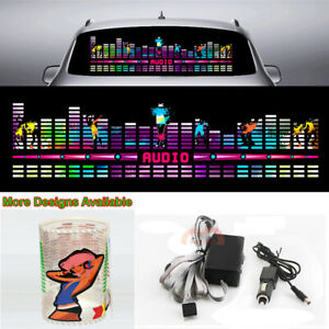 Lightning Car Sticker Music Rhythm Led Flash Light Sound Activated Equalizer 90l