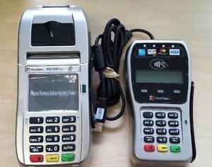 First Data Fd130 Duo Terminal And Fd 35 Emv Pin Pad With 1yr Warranty New
