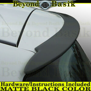Toyota Yaris 2007 2011 2 4dr Hatchback Black Matte Factory Style Spoiler Wing
