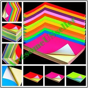 Color A4 Paper Self Adhesive Printable Sticky Shipping Sticker Label Fluorescent
