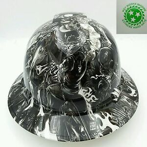 Hard Hat Full Brim Custom Hydro Dipped Osha Approved Death Rider New