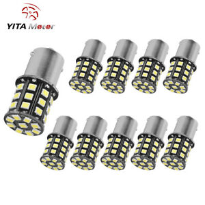 10x Super Bright 6 6w White 1156 Rv Trailer 33 Smd Led 1141 Interior Light Bulbs