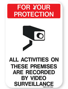 For Your Protection Video Surveillance Sign
