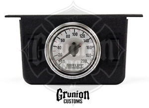 Air Lift Air Ride 2 Switch Dual Needle Gauge Panel 200 Psi