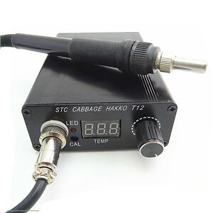 Ac 110v 220v Digital Soldering Iron Station Temperature Controller T12 Handle