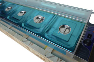 56 5 pan Hot Well Bain marie Food Warmer Steam Table 1500w With Pans