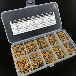 Multilayer Ceramic Capacitor Assorted Kit Box 1nf 68nf 102 683 10values X50