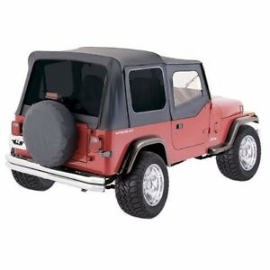 Rampage Tinted Soft Top With Upper Door Skins For 1988 1995 Jeep Wrangler Yj