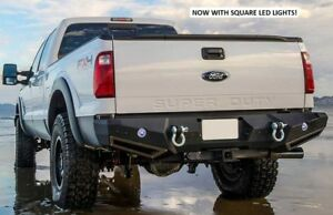 Smittybilt M 1 Rear D ring Bumper With Led Lights For 99 15 Ford Superduty F 350