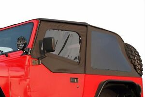 Rampage 2 in 1 Frameless Soft Top Door Skins 1992 1995 Jeep Wrangler Yj 109435