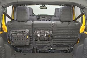 Smittybilt Gear Molle Rear Seat Cover Pouches For 08 12 4 Door Jeep Wrangler