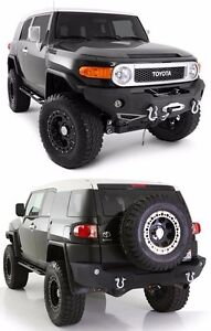 Smittybilt Front Rear Bumper Set W Light Kits 2007 2015 Toyota Fj Cruiser