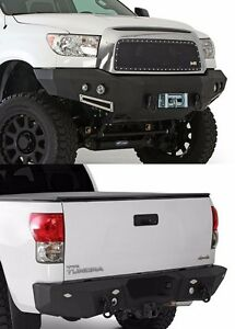 Smittybilt Front Rear D Ring Bumper Set W Light Kits 2007 2011 Toyota Tundra