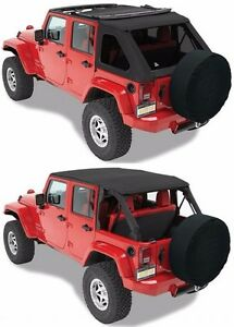 Bestop Trektop Nx Black Twill Soft Top Kit Hardware 07 18 4dr Jeep Wrangler Jk