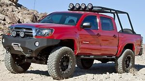 Body Armor Heavy Duty Front D Ring Winch Bumper For 2005 2011 Toyota Tacoma