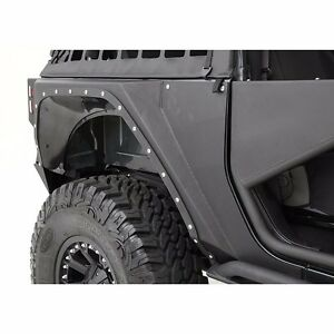Smittybilt Xrc Armor Black Steel Rear Fenders For 07 18 2 Door Jeep Wrangler Jk