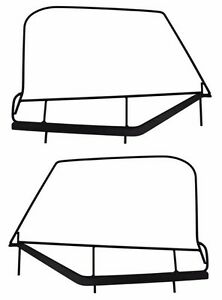 Rampage Soft Upper Door Window Frame Set For 1997 2006 Jeep Wrangler Tj Lj 89799