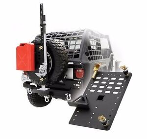 Smittybilt I rack Tire Carrier Modular Rack System W Jack Gas Can Mounts 2740