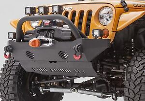 Body Armor Front Mid width D ring Winch Bumper For 2007 2018 Jeep Wrangler Jk