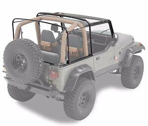 Rampage Soft Top Replacement Bow Hardware Kit 1987 1995 Jeep Wrangler Yj 69999