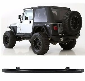 Smittybilt Bowless Soft Top And Channel Mount Kit For 1997 2006 Jeep Wrangler Tj